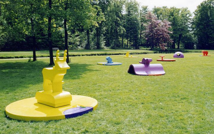 Ontwerp tentoonstelling annex serie speeltoestellen over dieren in de Nederlandse natuur voor Kasteel Groeneveld en Staatsbosbeheer