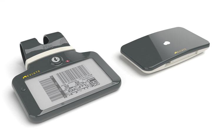 Ontwerp voor de behuizing van een elektronisch bagagelabel en een elektronische bagage tracker