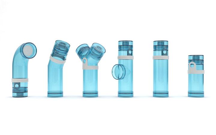 Ontwerp voor serie herbruikbare duurzame waterflessen voor Join the Pipe