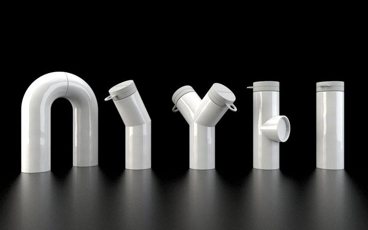 Ontwerp voor serie keramische waterkaraffen voor Join the Pipe in 2010 bekroond met een Dutch Design Award