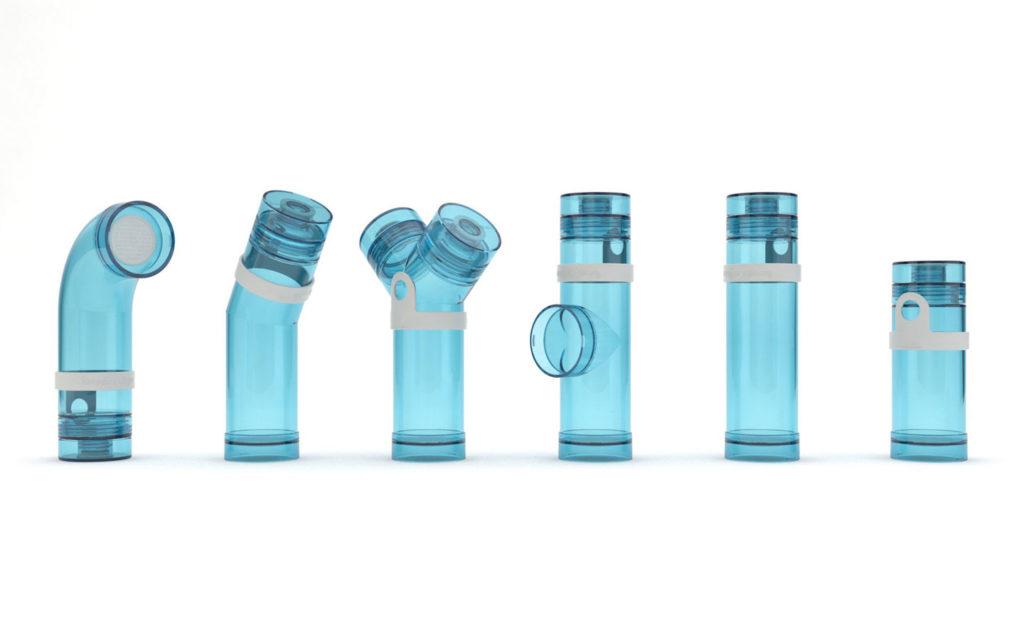 Ontwerp voor duurzame, herbruikbare en koppelbare waterflessen voor Join the Pipe in 2010 bekroond met een Dutch Design Award