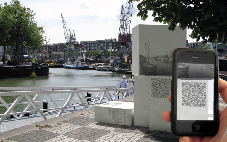 Ontwerp voor een bewegwijzerings en informatie applicatie voor de maritieme geschiedenis van de oude havens in de Rotterdam.
