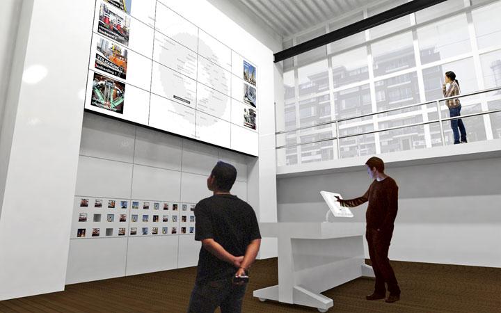 Ontwerp voor de herinrichting van de buitenruimte en de tentoonstelling van de maritieme collectie aan de Leuvehaven in Rotterdam.