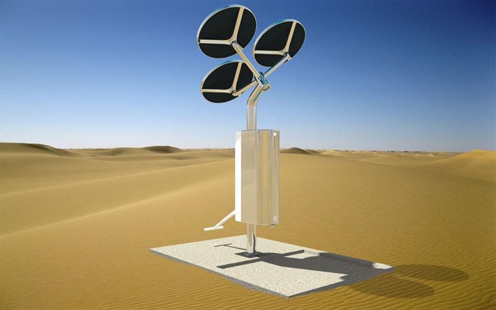 Ontwerp watertappunt op zonne-energie voor Join the Pipe