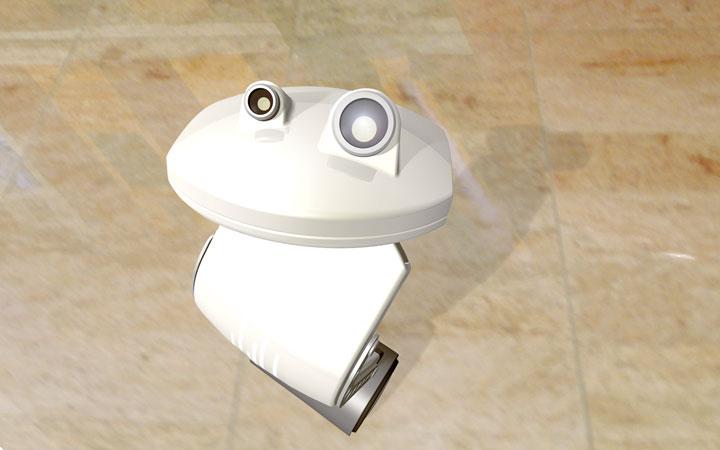 Concept voor een zelf balancerende welkomstrobot