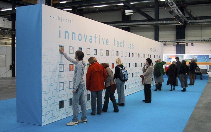 Ontwerp voor tentoonstelling van de Materialenbibliotheek tijdens Dutch Design Week in Eindhoven