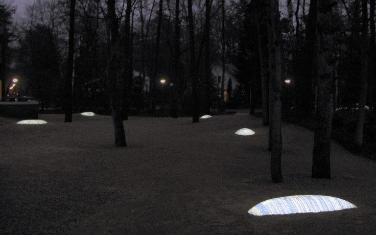 Ontwerp lichtobject in de buitenruimte