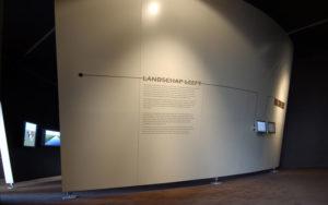 Ontwerp entree tentoonstelling over het Nederlandse landschap in Kasteel Groeneveld in Baarn