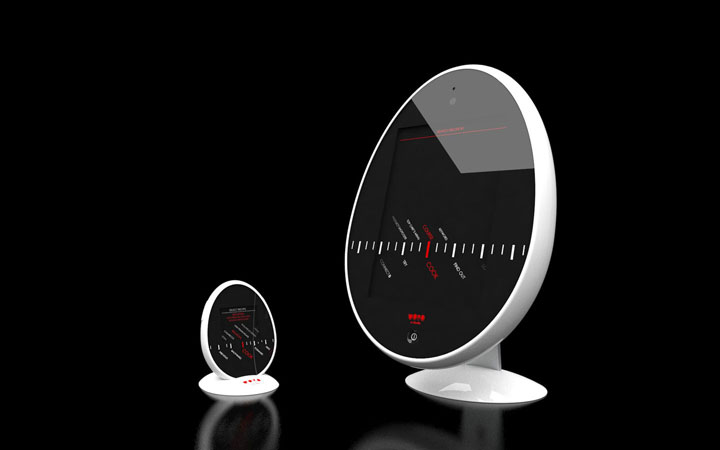 Ontwerp vrijstaande en draagbare versie Uovo keukencomputer
