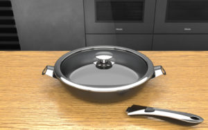 Product design cookware series with detachable handle