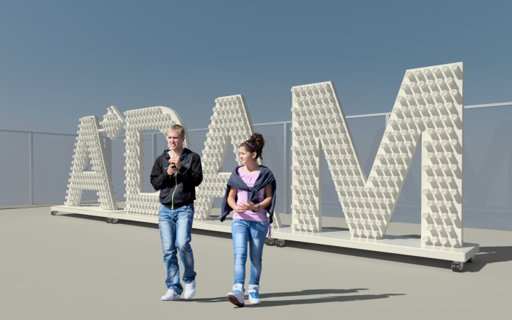 Productontwerp lichtobject A'dam Tower in Amsterdam
