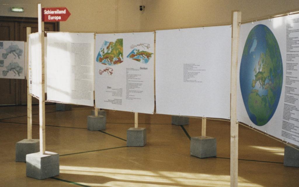 Ontwerp tentoonstelling Schiereiland Europa in Kasteel Groeneveld in Baarn